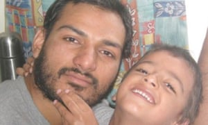 Dr Abbas Khan pictured with his son Abdullah