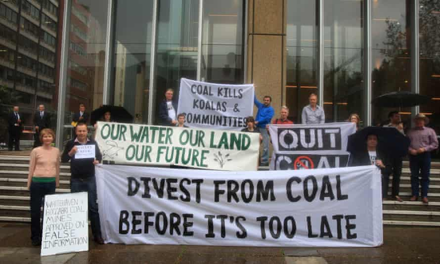 Protesters against Maules Creek mine outside federal court Sydney Environmental Defenders Office