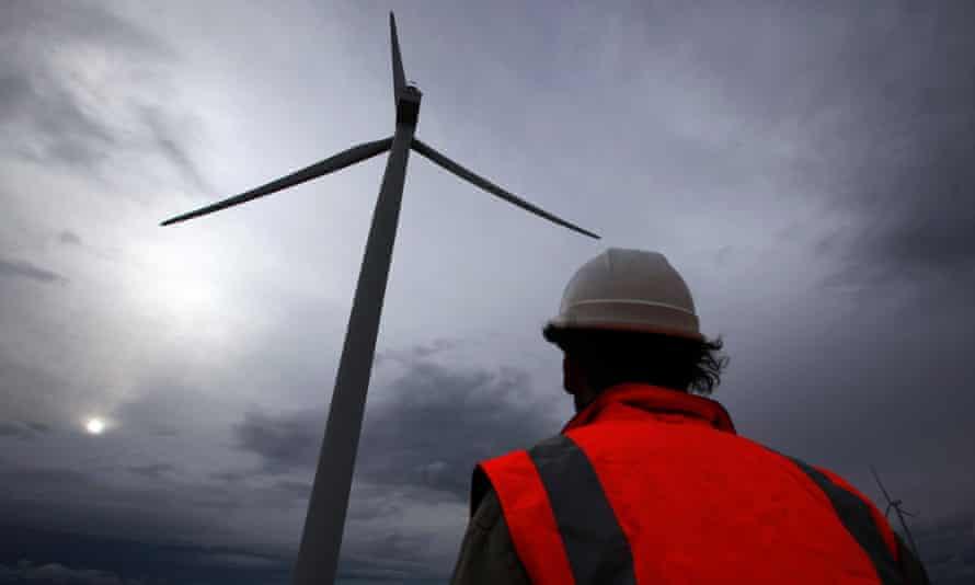 A windfarm near Lake George