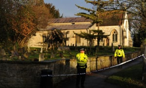 Police outside All Saints' Church in Didcot, Oxfordshire as Thames Valley Police announced that they are to focus their investigation into the disappearance of 17 -year-old Jayden Parkinson on a specific grave in the Great Western Cemetery next to All Saint's Church.
