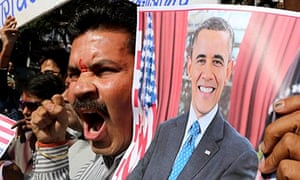 Protest against US treatment of Indian diplomat
