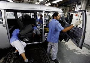 Volkswagen campers: Working on the interior