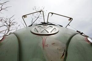 Volkswagen campers: A 1967 model of Volkswagen's Kombi minibus