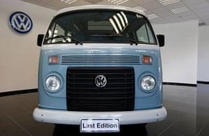 """Volkswagen campers: A 2013 """"Last Edition"""" model of Volkswagen's Kombi minibus is displayed at t"""