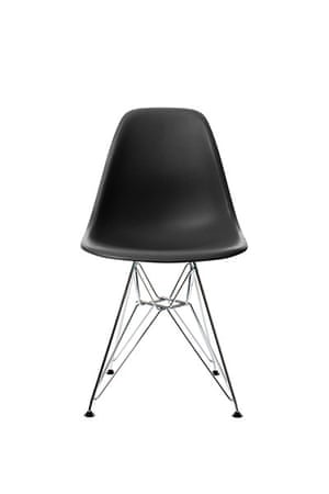 Homes - wishlist: black plastic chair with steel legs