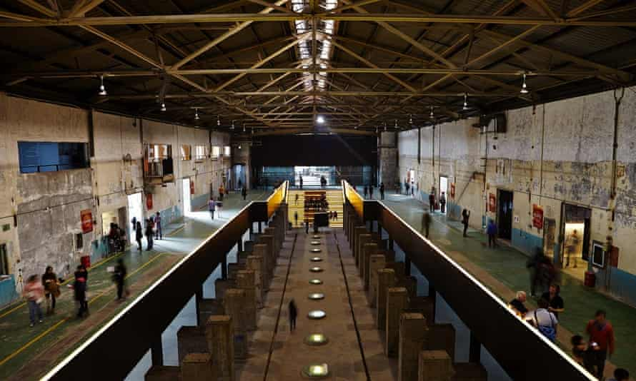 Value Factory … the old machine hall has been transformed into an open exhibition space, with separate rooms off the side.