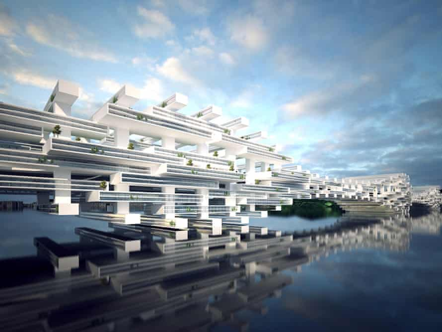 Cross-border housing … One of the speculative proposals by FCHA that tackles the Shenzhen-Hong Kong border condition.