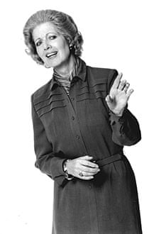 Janet Brown as 'Mrs Thatcher'.