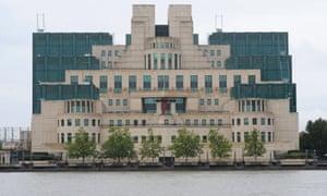 MI6 HQ at Vauxhall Cross in London.