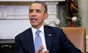 Barack Obama speaks at the Oval Office.
