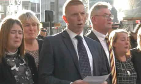 The public statement guilty verdict being read after the Lee Rigby murder trail