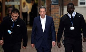 Charles Saatchi outside court