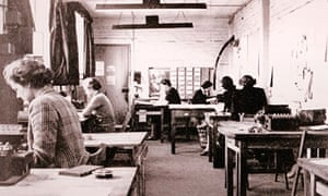 Wrens working In huts at Bletchley Park