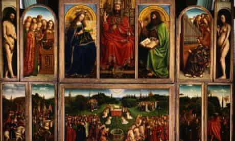 The Ghent Altarpiece (Open) by Hubert van Eyck and Jan van Eyck
