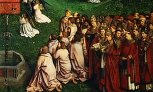 Detail of The Adoration of the Lamb from The Ghent Altarpiece
