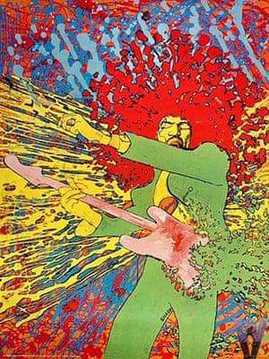 Martin Sharp: Jimi Hendrix - explosion