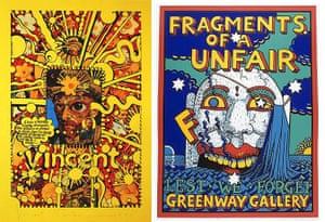 Martin Sharp: Vincent (1971) and Fragments of a (F)unfair, Lest we Forget (1991)