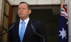 Tony Abbott gives a press conference in Canberra