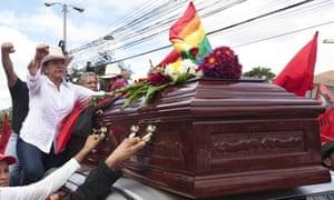 Xiomara Castro in Tegucigalpa