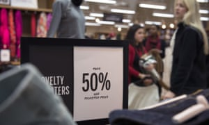 Shoppers at a J Crew factory store north of Atlanta