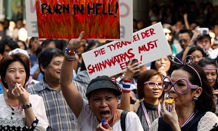 Protesters against the Thailand government's amnesty bill