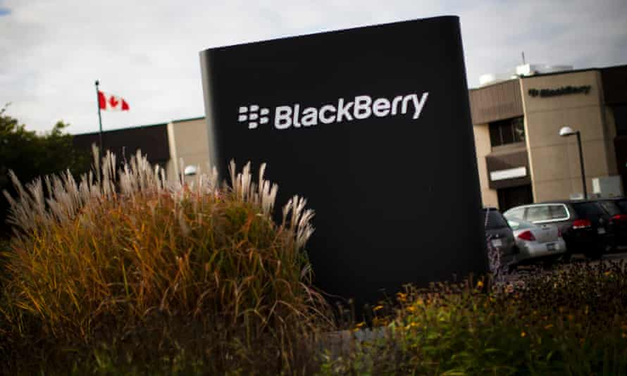 BlackBerry sign at its headquarters in Waterloo, Ontario.