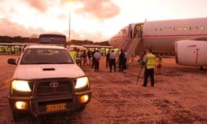 Asylum seekers leaving Christmas Island for Nauru