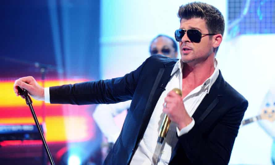 The singer Robin Thicke