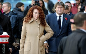 Media 2013: Rebekah and Charlie Brooks arrive at the Old Bailey