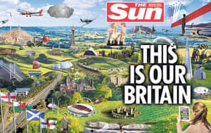 Media 2013: Sun prints 'This is our Britain' wrap cover