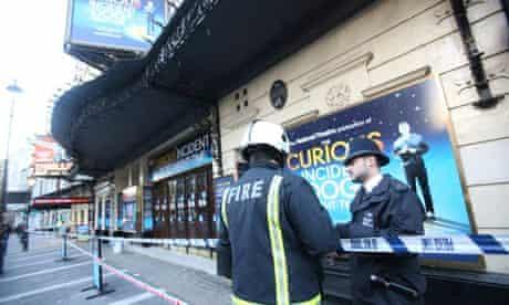 Apollo theatre police cordon