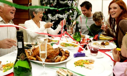 The use of this stock photograph is not meant to imply that simmering resentments, ancient hatreds, or a nagging sense of existential disappointment lurk just beneath the rictus smiles of this specific family.