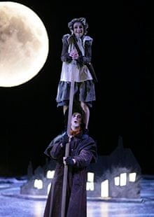 Corey Annand (top) and Kip Johnson in The Little Match Girl.