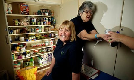 Ruth Fox at the food bank East Cleveland Baptist Church in Redcar