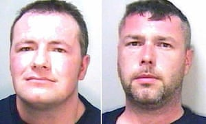 Stuart Harness and Gavin Humphries, who have been jailed for firebombing a mosque