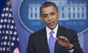 US President Barack Obama holds a press conference in the Brady Press Briefing Room at the White House in Washington, DC