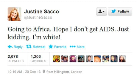 Justine Sacco PR Executive Fired Over Racist Tweet Ashamed - The 19 funniest things tweeted by women in 2016