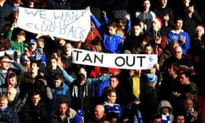 Cardiff City supporters p;am to protest on Boxing Day against Cardiff City's owner Vincent Tan