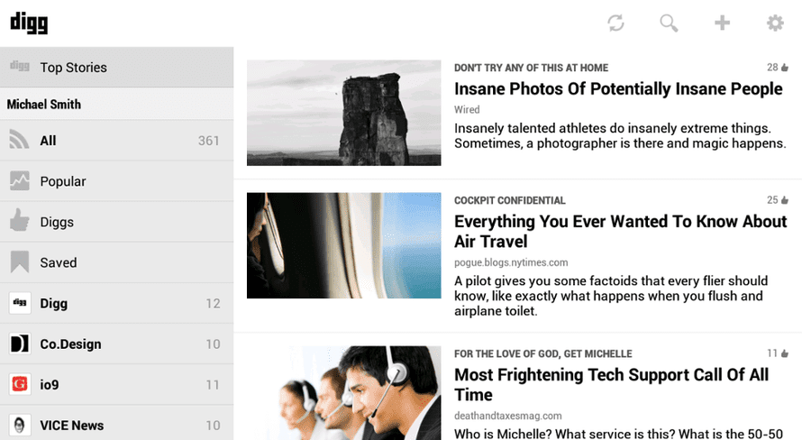 Digg for Android
