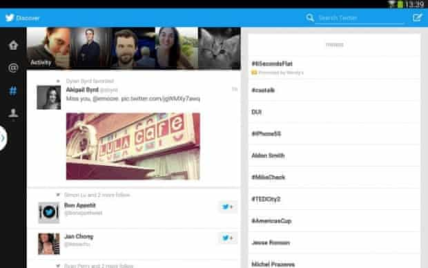 Twitter for Android tablets.