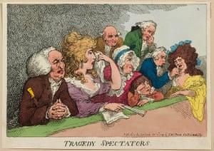 Rowlandson: Tragedy Spectators