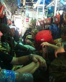 Hannah's cramped evacuation flight from Juba to Addis Ababa, Ethiopia