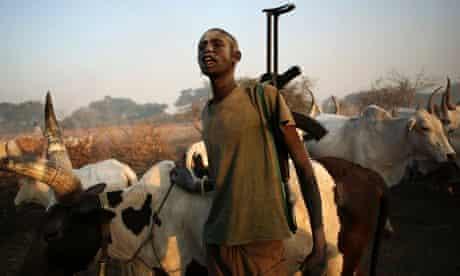 South Sudan cattle herder
