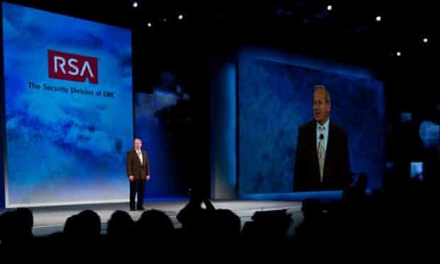 RSA chief executive Art Coviello speaks in 2010
