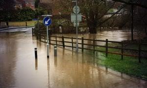 Flooding in Mallards Way, Maidstone, Kent.
