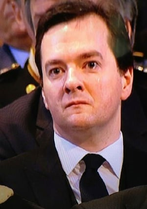 George Osborne at Thatcher's funeral
