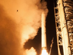 Animals of year: A frog is captured during a lift off of NASA's Lunar Atmosphere and Dust En