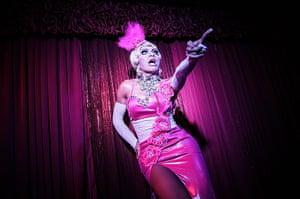 Top ten: Kuta, Indonesia: Indonesian drag queen Renata performs in Joe Bar