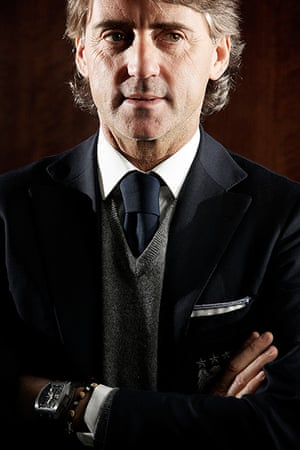 Portraits of year: Manchester City manager Roberto Mancini at the Etihad Airways First Class L