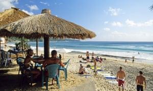 Dreamland Beach on the Bukit peninsula, Bali.
